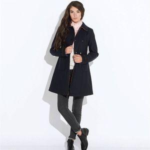 Geox Double Breasted Long Coat Jacket Sz 6